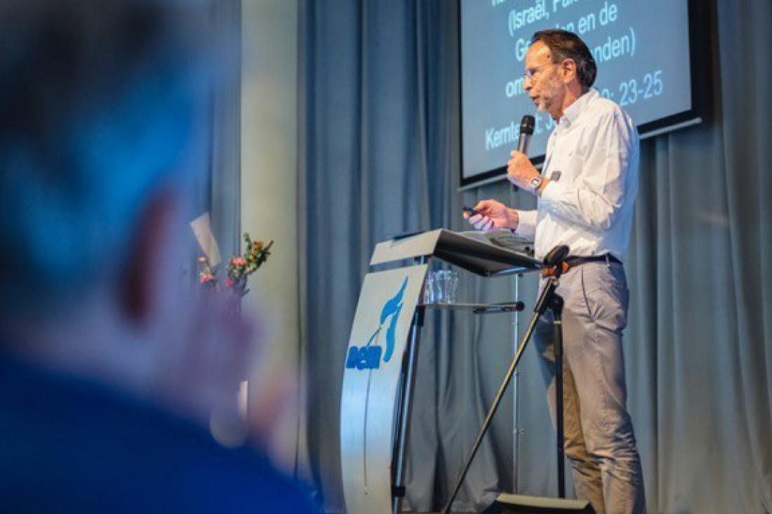Spreekbeurt Piet Jonkers in Gereformeerde Kerk Ottoland