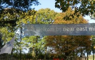 Welkom bij Near East Ministry spandoek