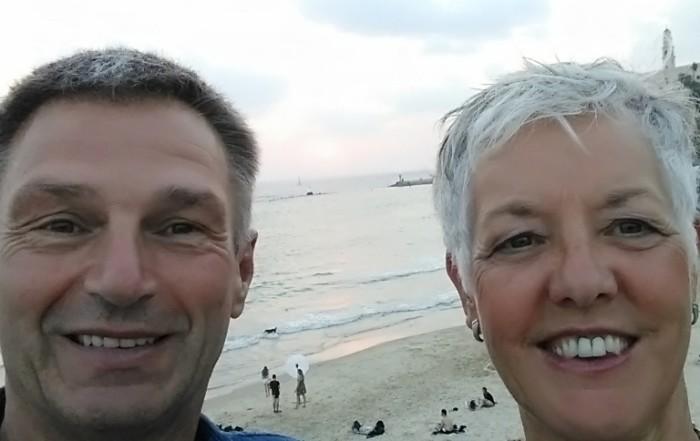 Ben en Coby op het strand